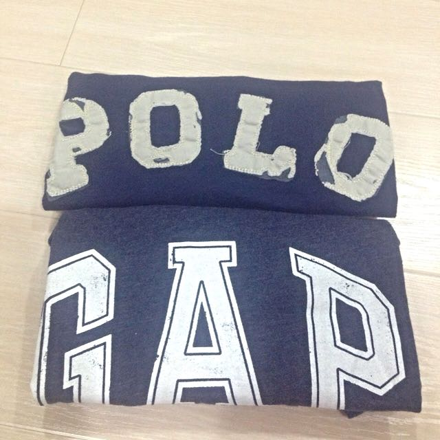 正版 女款Polo * Gap 短袖 深藍好搭