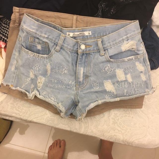 淺藍短褲 W29