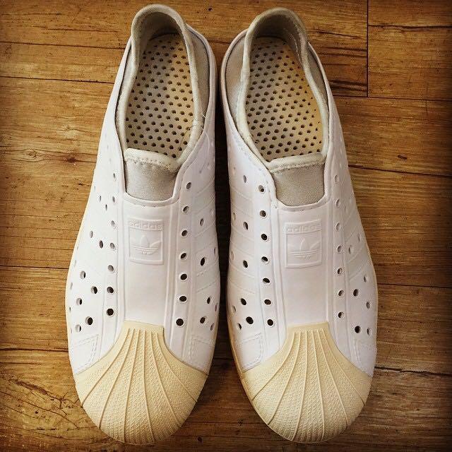 ADIDAS Original 雨鞋 洞洞鞋 透氣 貝殼 奶油頭