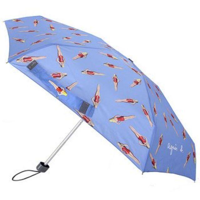 真品agnes b泳裝芭比三段摺疊傘/迷你雨傘/全新折傘陽傘