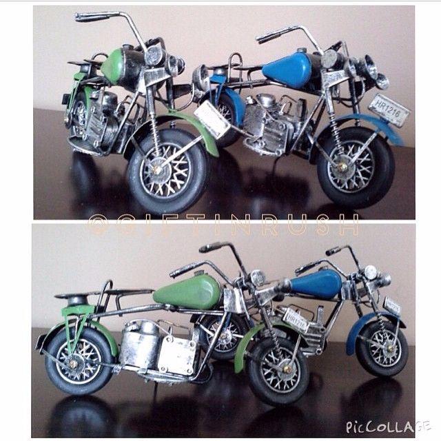 AH01-061 Handmade Vintage Bike / Miniature Handmade Motor Klasik