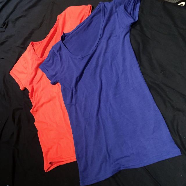 Plain Tshirt 2 For $5