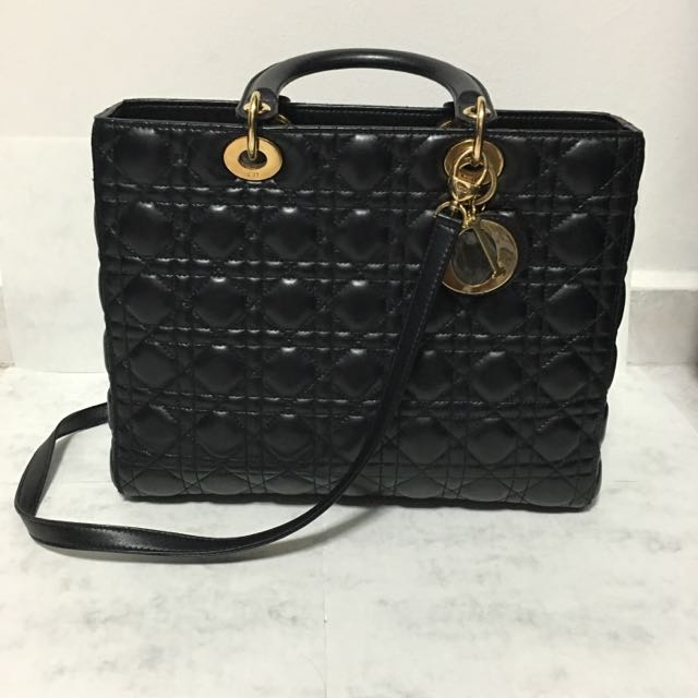 3c6b1e0caa4 Christian Dior Lady Bag GHW *Price Reduced*, Luxury, Bags & Wallets ...