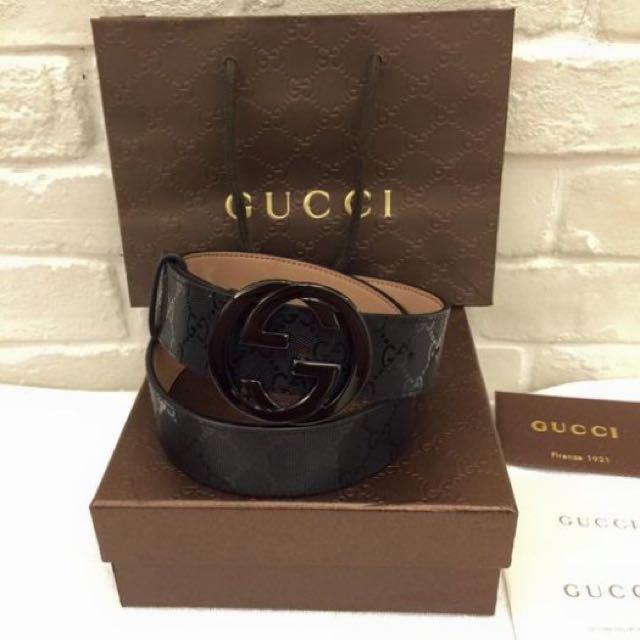 Gucci經典款皮帶