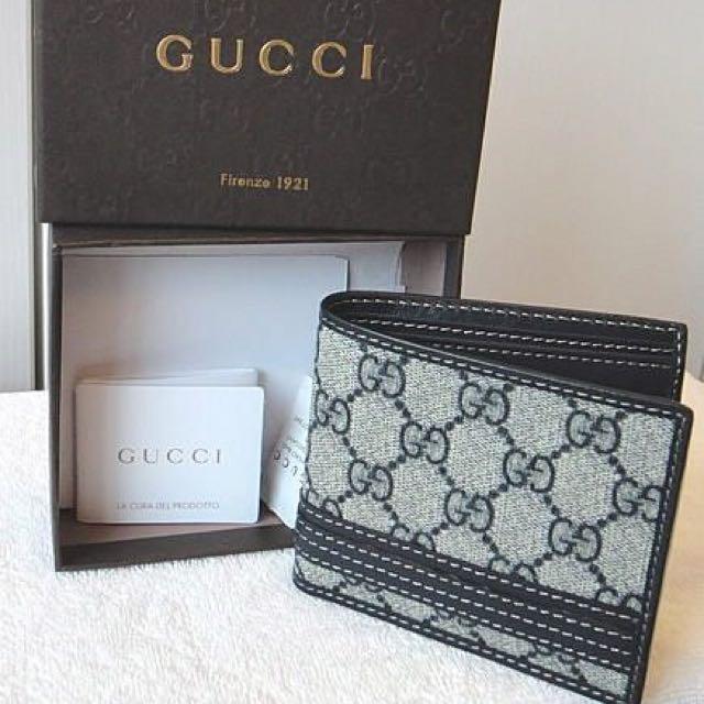 全新Gucci 6卡短夾