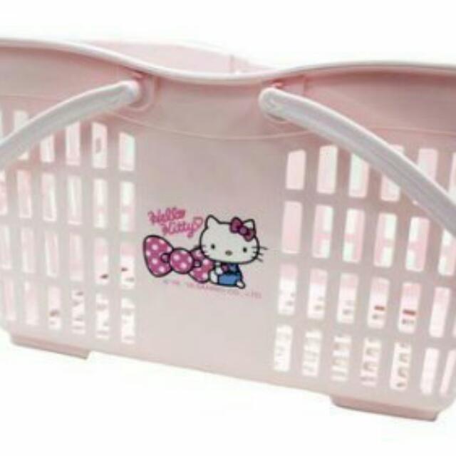 Hello Kitty 陽台置物籃/購物籃/收納籃