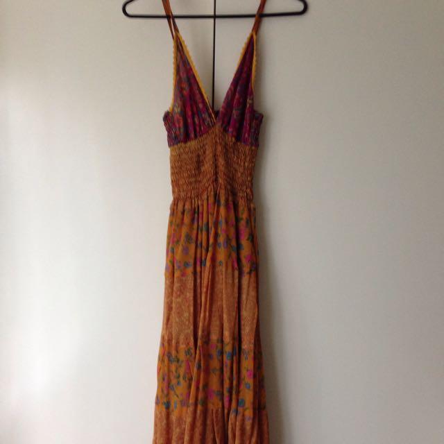 Ishka Silk Maxi Dress
