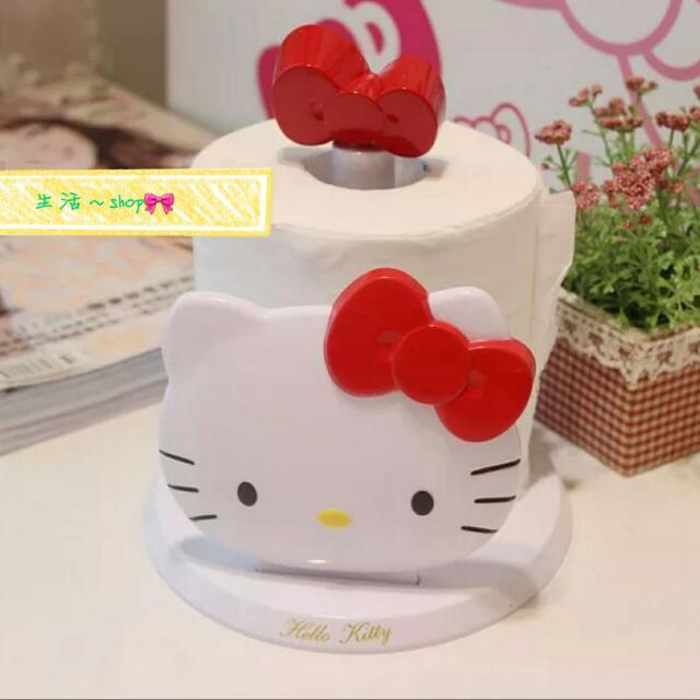 kitty蝴蝶結頭型紙巾架