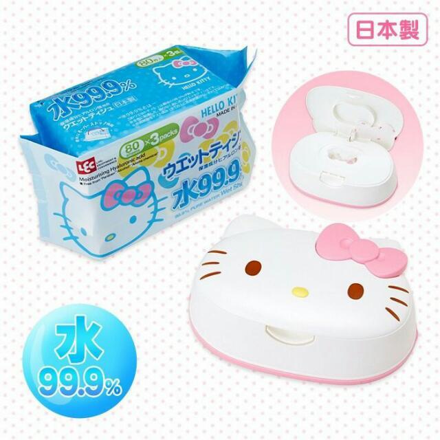 kitty 加厚濕紙巾+造型盒