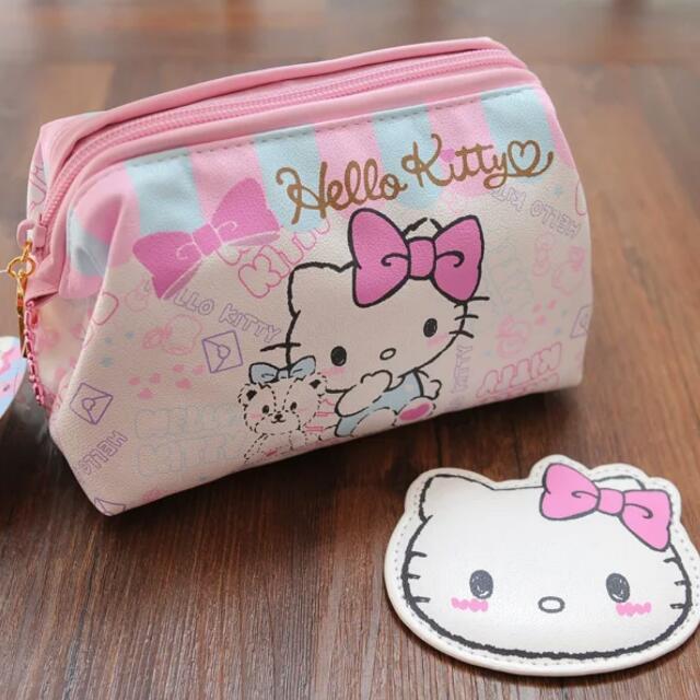 kitty 蝴蝶結化妝包