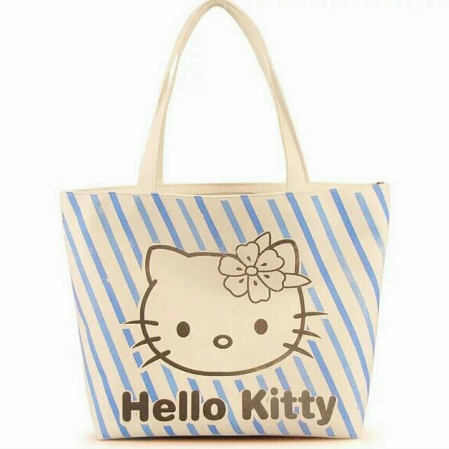 kitty 大容量帆布包 媽媽包