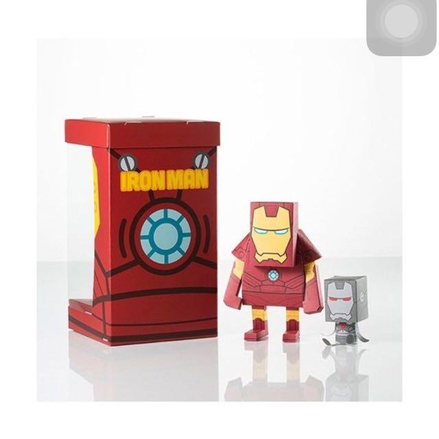 momot marvel iron man paper toy toys games on carousell