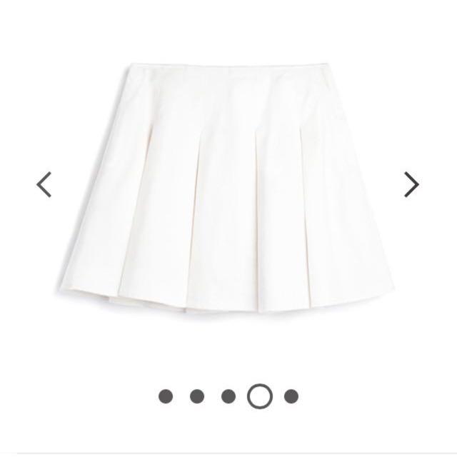 Pazzo基本白色圓裙