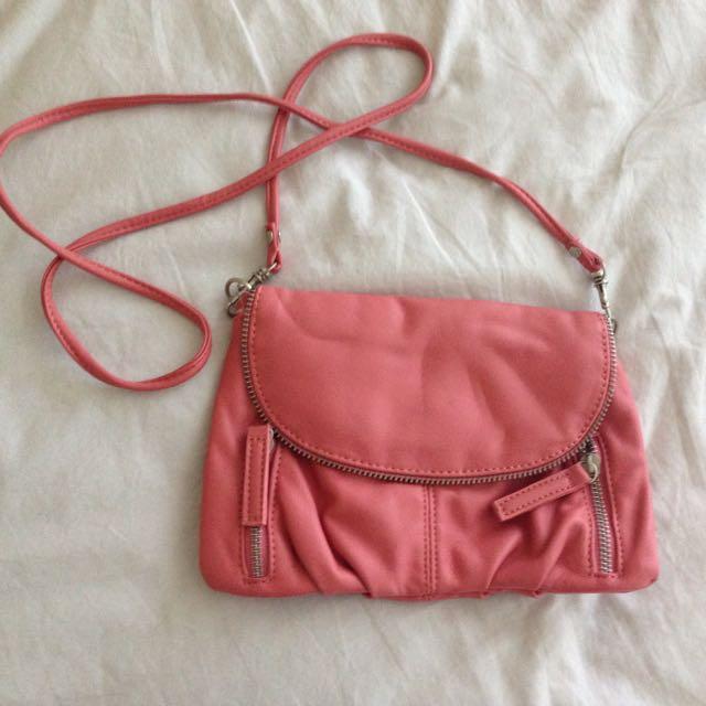 Peach Clutch/bag