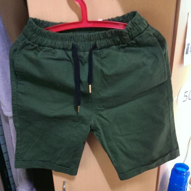 Record 工作短褲 墨綠色