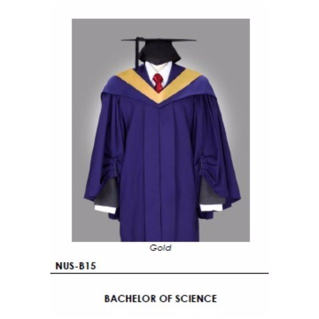 Rent NUS Bachelor of Science Commencement Graduation Gown with cap ...