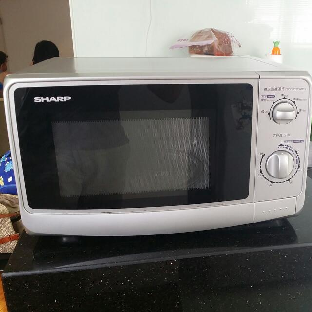 Sharp Microwave R-218L (22 Liter), Home Appliances on Carousell