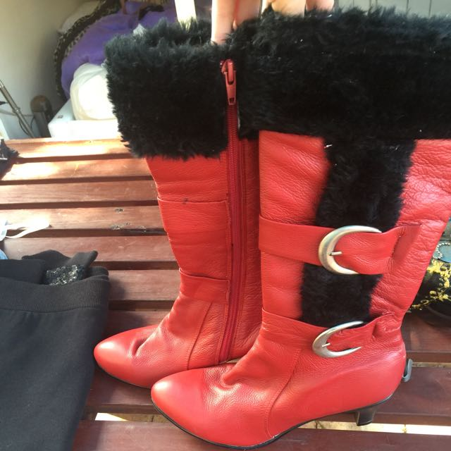 Size 7 Red Boot Heels