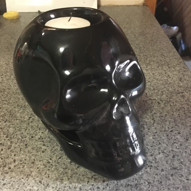 Skull Candle Holder (Ceramic)