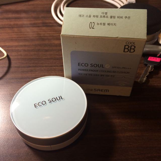 全新韓國the SAEM 夏日防水款氣墊粉餅-02號