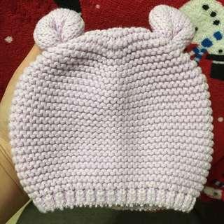 GAP薰衣草紫寶寶帽