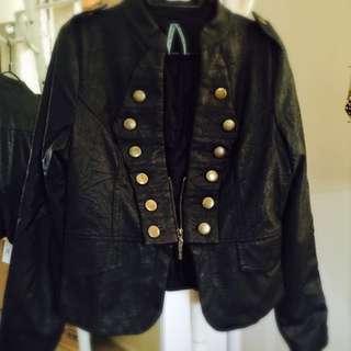 Size 10 Fashionable Leather Jacket