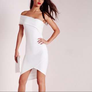 Missguided crepe Asymmetric Dress