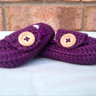 Handmade Crocheted Baby Loafers/Slippers/Shoes