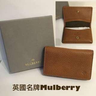 [全新正貨]英國名牌Mulberry真皮card Holder 啡色