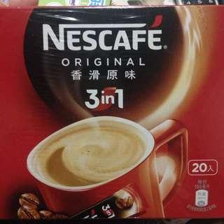 Nescafé 雀巢咖啡 三合一即溶咖啡-香滑原味 買一送一