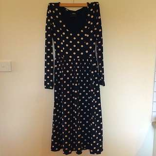 Long Sleeve Midi Dress Size 8