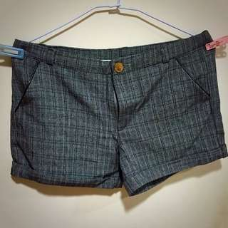 灰格紋短褲