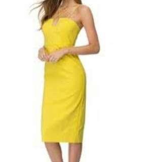 Bardot Yello Dress Size 10. Never Worn