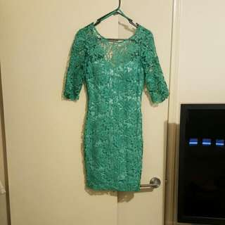 Bariano Green Dress Size 6