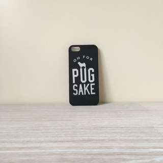 "iPhone 5/5s Case ""pug sake"""