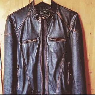 Wolverine Style Italian Leather Jacket