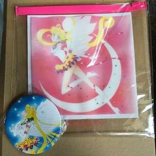 VIVI雜誌贈品-美少女戰士夾鍊袋+隨身鏡