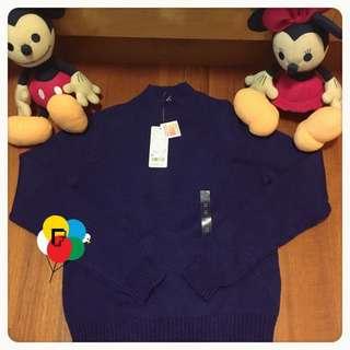 日本帶回▸Uniqlo◂ heattach 半高領藍紫色針織毛衣