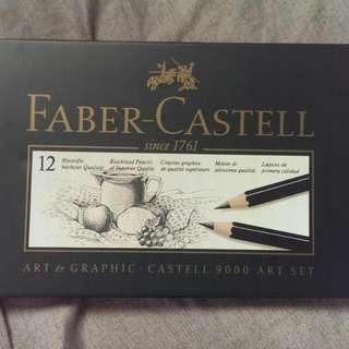 Faber Castell輝柏素描筆12入  2H-8B