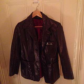 Vintage Purple Leather Jacket