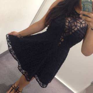 Pilgrim Black Lace Dress