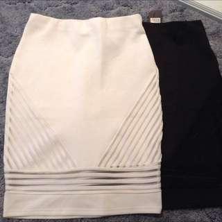 White/Black Skirt