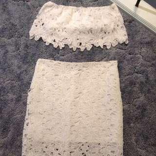 Two Piece White Dress
