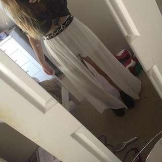 Shorts With a Long Sheer Detailing
