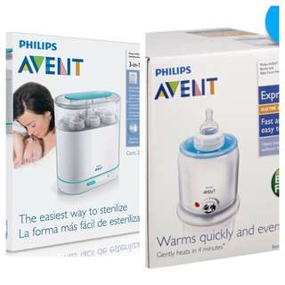 Phillips Avent Electric Steam Sterilizer & Bottle And Baby Food Warmer - Two Separate Product