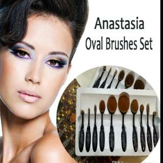 Anastasia Oval Brushes Set   Blending Toothbrush Multipurpose Cream Puff Blusher  Concealer Makeup  Foundation Powder Tools. PREORDER. 2~4 Weeks $55.00 With Reg.mail   Serious Buyer Pm Pls.