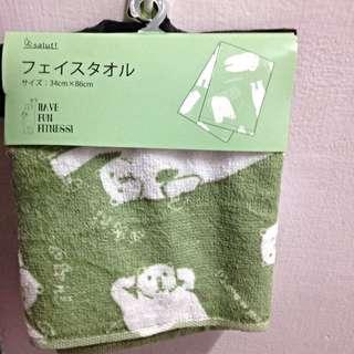 日本買的長條毛巾