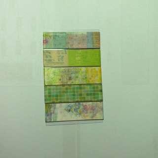 紙膠帶分裝-綠意組合