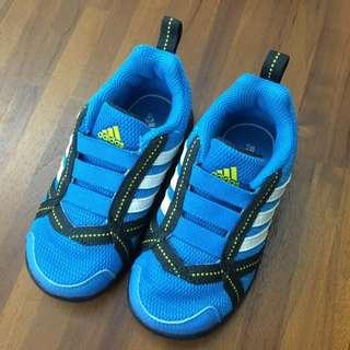 adidas 無鞋帶 寶寶學布鞋