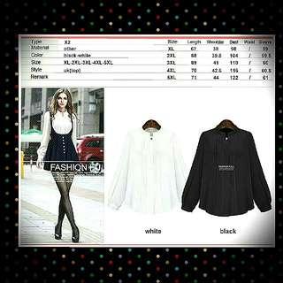 🚚 [BN] Plus Size Black Formal Shirt
